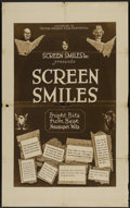 """Movie Posters:Short Subject, Screen Smiles (Victor Kremer Film Features, ca. 1920s ). One Sheet(27"""" X 41""""). Short Subject...."""