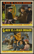 "Movie Posters:Serial, G-Men vs. the Black Dragon (Republic, 1943). Title Lobby Card and Lobby Card (11"" X 14"") Chapter 1 -- ""The Yellow Peril."" Se... (Total: 2 Items)"