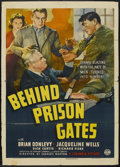 """Movie Posters:Crime, Behind Prison Gates (Columbia, 1939). One Sheet (27"""" X 41"""").Crime...."""