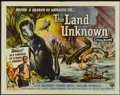 "Movie Posters:Science Fiction, The Land Unknown (Universal, 1957). Half Sheet (22"" X 28"") Style B.Science Fiction...."