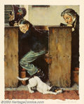 Original Illustration Art:Mainstream Illustration, Norman Percevel Rockwell (1894-1978) Numbered and Signed Print..Titled: Dog and Beetle.. Print No. 125 of 200, nicely f...