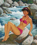 Original Illustration Art:Pin-up and Glamour Art, Arthur Sarnoff (1912-2000) Original Pin-up / Glamour Art (c.1960)..Gouache on board, framed (29 x 24), sight size approxima...