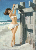 Original Illustration Art:Pin-up and Glamour Art, Arthur Sarnoff (1912-2000) Original Pin-up / Glamour Art (c.1960)..Published as a calendar print.. Gouache on board, framed...