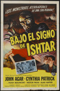 "Movie Posters:Science Fiction, The Mole People (Universal International, 1956). Spanish LanguageOne Sheet (27"" X 41""). Science Fiction...."