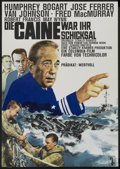 """Movie Posters:War, The Caine Mutiny (Columbia, R-1960s). German A1 (23"""" X 33"""").War...."""