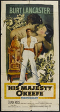 "Movie Posters:Adventure, His Majesty O'Keefe (Warner Brothers, 1954). Three Sheet (41"" X81""). Adventure...."