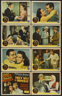 """They Met in Bombay (MGM, 1941). Lobby Card Set of 8 (11"""" X 14""""). Adventure.... (Total: 8 Items)"""