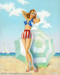 Original Illustration Art:Pin-up and Glamour Art, Taber - Original Pin-up / Glamour Art (c.1940).. MissAmerica, published by the Joseph C. Hoover and Sons CalendarCompa...