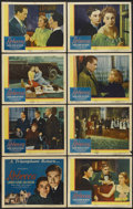"""Movie Posters:Hitchcock, Rebecca (United Artists, R-1946). Lobby Card Set of 8 (11"""" X 14"""").Hitchcock.... (Total: 8 Items)"""