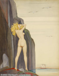 Alberto Vargas (1896-1982) Original Pin-up / Glamour Art (c.1921). Lorilee, a rare, early work by Vargas. Watercolor o...