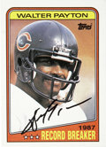 """Football Collectibles:Others, Walter Payton Signed Trading Card. An EX-MT example of the 1988 Topps #5 card, naming Payton as the record holder for """"Most..."""