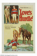 "Movie Posters:Comedy, Love's Hurdle (Universal, 1926). One Sheet (27"" X 41""). This rolledstone litho poster is from a short subject comedy which ..."