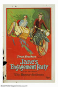 "Movie Posters:Short Subject, Jane's Engagement Party (Universal, 1926). One Sheet (27"" X 41"").One of the Stern Brother's ""What Happened to Jane"" series ..."