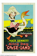 "Movie Posters:Short Subject, Goose-Land (Pathe', 1926). One Sheet (27"" X 41""). Alice Day beganher career as a Mack Sennett Bathing Beauty in her mid-tee..."