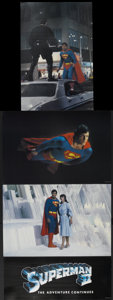 Movie Posters:Action, Superman II (Warner Brothers, 1980). Deluxe Photo Lobby Card Set(15) (Various Sizes). Action.... (Total: 15 Items)
