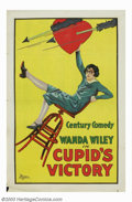 "Movie Posters:Comedy, Cupid's Victory (Universal, 1925). One Sheet (27"" X 41""). WandaWiley had a short career in the silent film era with perhaps..."