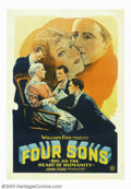 "Movie Posters:War, Four Sons (Fox, 1928). One Sheet (27"" X 41""). This John Ford filmwas long thought lost until it reappeared in the 1960's an..."