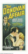 """Movie Posters:Mystery, Donovan Affair, The (Columbia, 1929). Three Sheet (41"""" X 81""""). Famed director Frank Capra prior to his success with """"It Happ..."""