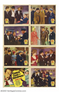 "Movie Posters:Mystery, Charlie Chan on Broadway (20th Century Fox, 1937). Lobby Card Set(8) (11"" X 14"").Warner Oland had pretty much made this rol...(Total: 8 Movie Posters Item)"