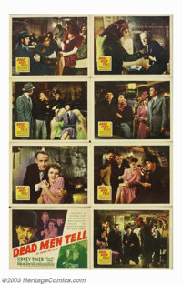 """Dead Men Tell (20th Century Fox, 1941). Lobby Card Set (8) (11"""" X 14""""). Early entry in the Sidney Toler/ Charl..."""