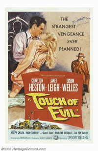 "Touch Of Evil (Universal International, 1958). One Sheet (27"" X 41""). Orson Welles was black-balled in Hollywo..."