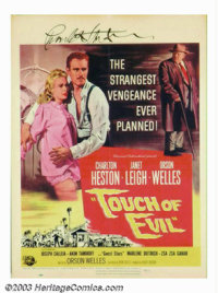 "Touch Of Evil (Universal International, 1958). Window Card (14"" X 19""). The top of this window card has been t..."
