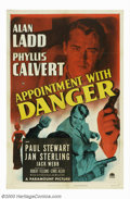 """Movie Posters:Film Noir, Appointment With Danger (Paramount, 1951). One Sheet (27"""" X 41"""").Whether playing a hit-man or a cop, Alan Ladd, the film no..."""