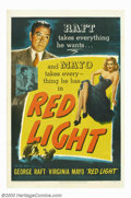 "Movie Posters:Film Noir, Red Light (United Artists, 1949). One Sheet (27"" X 41""). GeorgeRaft stars in this classic film noir drama about embezzling,..."