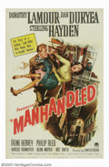 "Movie Posters:Film Noir, Manhandled (Paramount, 1949). One Sheet (27"" X 41""). Thoughconsidered by many to be a minor noir thriller, this film is pac..."