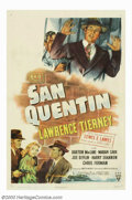 Movie Posters:Film Noir, San Quentin (RKO, 1946). Prison reform-minded melodrama, starringLawrence Tierney as Jim Roland, one of the founding member...