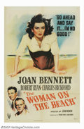 "Movie Posters:Film Noir, Woman on the Beach (RKO, 1947). One Sheet (27"" X 41'). Directed bythe great French director Jean Renoir, this film noir sto..."