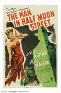 "Movie Posters:Film Noir, Man in Half Moon Street, The (Paramount, 1944). One Sheet (27"" X41""). A scientist discovers the secret of immortality, he m..."