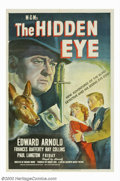 "Movie Posters:Film Noir, Hidden Eye, The (MGM, 1945). One Sheet (27"" X 41""). The second oftwo MGM films featuring mystery writer Baynard Kendrick's ..."