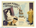 """Movie Posters:Mystery, Thin Man, The (MGM, 1934). Half Sheet (22"""" X 28""""). Director WoodyVan Dyke shot this film in two weeks on a B-picture budget..."""