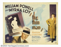 "Thin Man, The (MGM, 1934). Half Sheet (22"" X 28""). Director Woody Van Dyke shot this film in two weeks on a B-..."