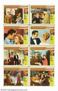 """Marnie (Universal, 1964). Lobby Card Set (8) (11"""" X 14""""). The plot line resembles Alfred Hitchcock's earlier t..."""
