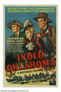 """Movie Posters:Western, In Old Oklahoma (Republic, 1943). One Sheet (27""""X41""""). Cowboyscompete for oil lease rights on Indian land in Oklahoma, as w..."""