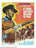 "Movie Posters:Western, For a Few Dollars More (United Artists, 1967). French Poster (22.5""X 30.5""). Ennio Morricone's haunting score accompanies C..."