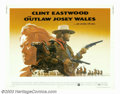 "Movie Posters:Western, Outlaw Josey Wales, The (Warner Brothers, 1976). Half Sheet (22"" X28""). Clint Eastwood, in one of his more memorable post ""..."