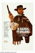 "Movie Posters:Western, Fistful of Dollars (United Artists, 1964). Advance One Sheet, StyleA (27"" X 41""). Leone's film was inspired by Akira Kurosa..."