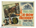 "Movie Posters:Western, Ox-Bow Incident, The (20th Century Fox, 1943). Half Sheet (22"" X28""). Based on the famous Van Tilburg novel of the same nam..."