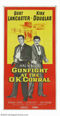 "Movie Posters:Western, Gunfight at the O.K. Corral (Paramount, 1957). Three Sheet (41"" X81""). This was the definitive version of the famous wester..."
