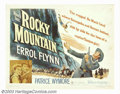 "Movie Posters:Western, Rocky Mountain (Warner Brothers, 1950). Half Sheet (22"" X 28"").Errol Flynn plays a Confederate officer trying to recruit tr..."