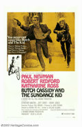 """Movie Posters:Western, Butch Cassidy and the Sundance Kid (20th Century Fox, 1969). OneSheet (27"""" X 41""""), Style B. This was one of the great pictu..."""