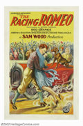 "Movie Posters:Comedy, Racing Romeo, The (FBO, 1927). One Sheet (27"" X 41""). This was oneof three starring roles for the ""Galloping Ghost"" Red Gra..."