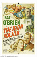 """Movie Posters:Sports, Iron Major (RKO, 1943). One Sheet (27"""" X 41""""). Actor Pat O'Brien, who was a college athlete, was a natural for the role of F..."""