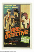 "Movie Posters:Serial, Fire Detective, The (Pathe', 1929). Episode Four ""The ConvictStrikes.One Sheet (27"" X 41""). Pathe' Studios was arguably the..."