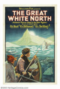 """Movie Posters:Adventure, Great White North, The (Fox, 1928). One Sheet (27"""" X 41""""). Foxreleased this gorgeous stone litho poster with the documentar..."""