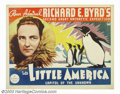 "Movie Posters:Miscellaneous, Into Little America (Paramount, 1935). Half Sheet (22"" X 28"") StyleB. When Admiral Byrd made his second expedition to Antar..."