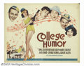"Movie Posters:Comedy, College Humor (Paramount, 1933). Half Sheet (22"" X 28""). A collegeprofessor (Bing Crosby) falls in love with one of his stu..."